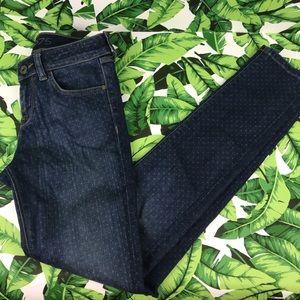 5 for $25 Zara 1975 Polka Dot Skinny Jeans